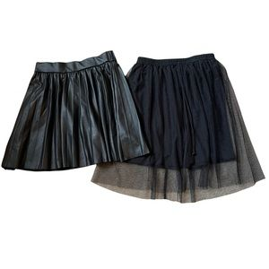 Zara and h.i.p. Black Skirt Lot Girls Size medium